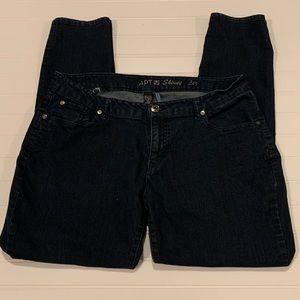 Women's Skinny Leg Dark Wash Denim Jeans